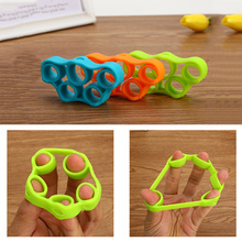 3 Levels Finger Stretcher Resistance Bands Strengthener Exerciser Trainer Hand Grip