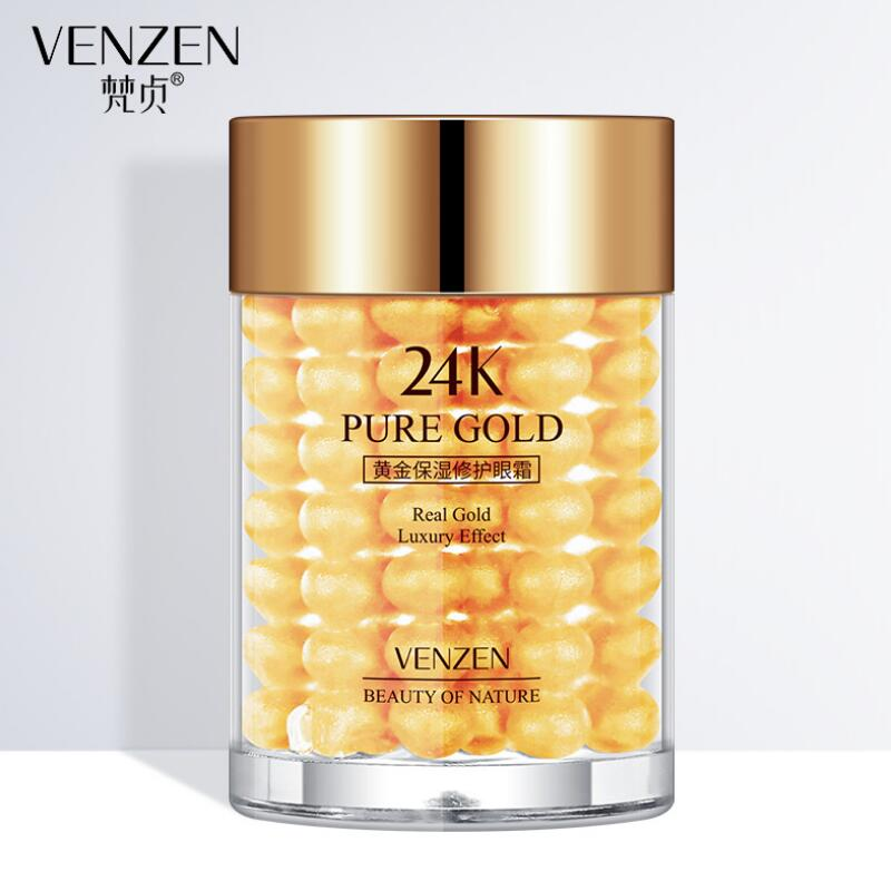 24K Gold Eye Cream Collagen Hydra Moisturizing Eye Gel Remove Eye Bag Anti Puffiness Dark Circles Remove Anti Wrinkles Care