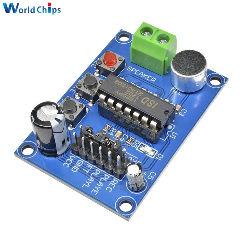 ISD1820 звук/Голосовая плата запись и воспроизведение модуль Синий PCB версия вкл для платы микрофон звукозапись модуль Интегральные схемы      АлиЭкспресс