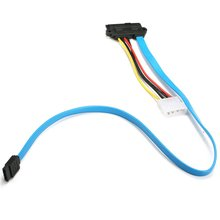 About 70cm Hard Drive Adapter Cord Cable SAS Serial Attached SCSI SFF-8482 to SATA HDD Hard Drive Adapter Cord Cable Blue Color цена 2017