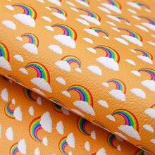 Upholstery Fabric-Sheet Vinyl Clothing Earring-Accessories Grain Rainbow-Lychee DIY 1yc9854