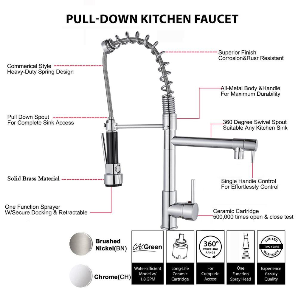 Image 4 - Uythner Chrome Brass Basin Kitchen Faucet Vessel Sink Mixer Tap Spring Dual Swivel Spouts Sink Mixer Bathroom Faucets Hot Cold-in Basin Faucets from Home Improvement