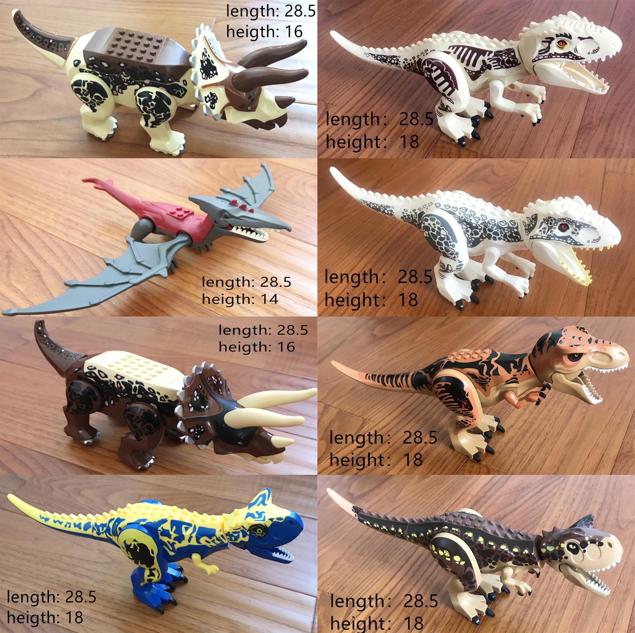 8 figurines grands dinosaures legoing Jurassic World Park set grand modèle de dinosaure jouets blocs de construction cadeau pour les enfants