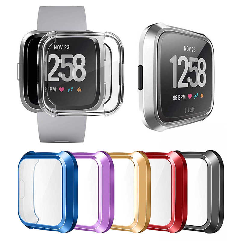 1 Pc Nieuwe Cover Horloge Screen Protector Tpu Siliconen Clear Case Cover Shell Voor Fitbit Versa Lite