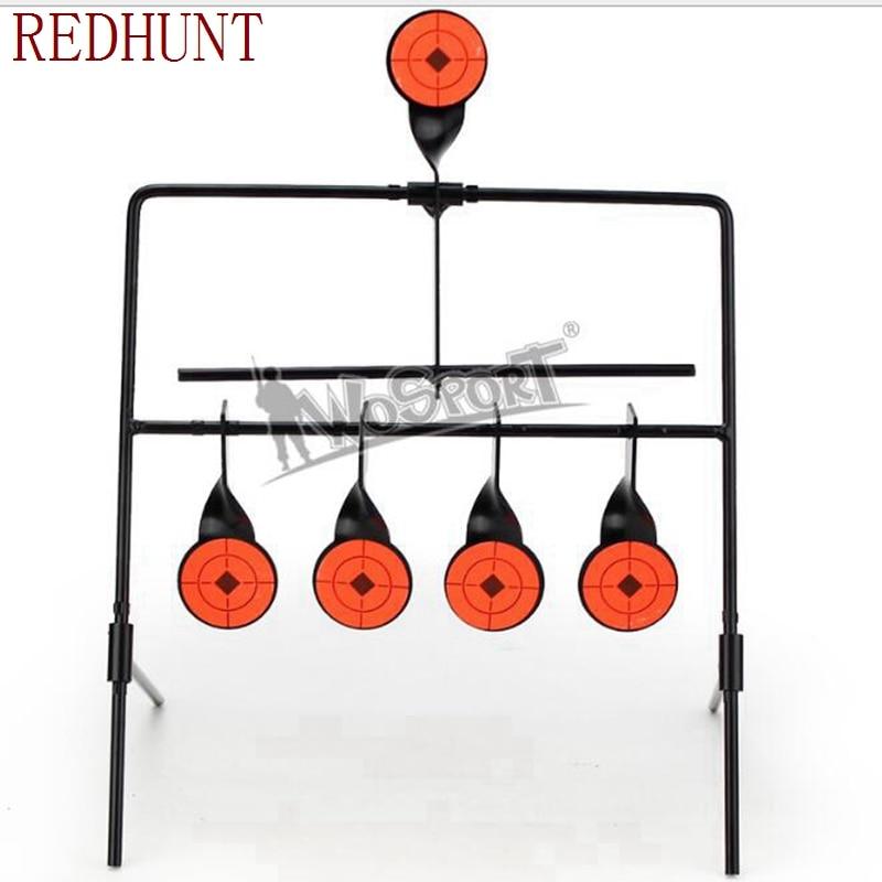 Target For Airgun Lead Pellet Gun Air Rifle Airsoft Paintball 5 Targets Automatic Reset Rotating Shooting Target
