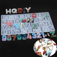 SNASAN Silicone mold big alphabets letters Numbers Resin Silicone Mould pendant handmade DIY Jewelry Making tool epoxy resin