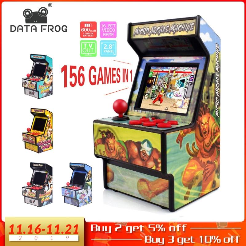 Sapo de dados retro mini arcada handheld game console 16 bits jogador de jogo embutido 156 clássico vídeo game console suporte tv saída