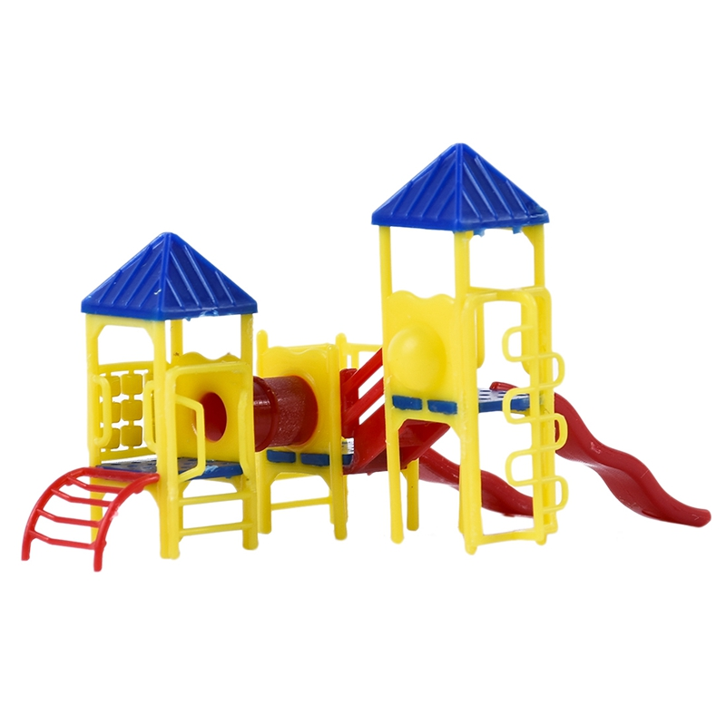 1:150 Scale Playground Equipment Model Trains Layout Railway Building