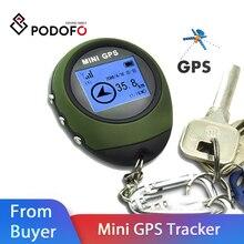 Podofo Mini GPS Tracker Locator Finder Navigation Empfänger Handheld USB Aufladbare mit Elektronische Kompass für Outdoor Travel