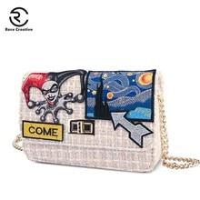 RARE CREATIVE Female Square Crossbody Bags Winter Quality Woolen Messenger Bags Luxury Ladies Flap Bag Chain Shoulder Bag HM6028