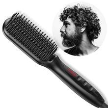 Professional Hair & Beard Straightener Brush Electric