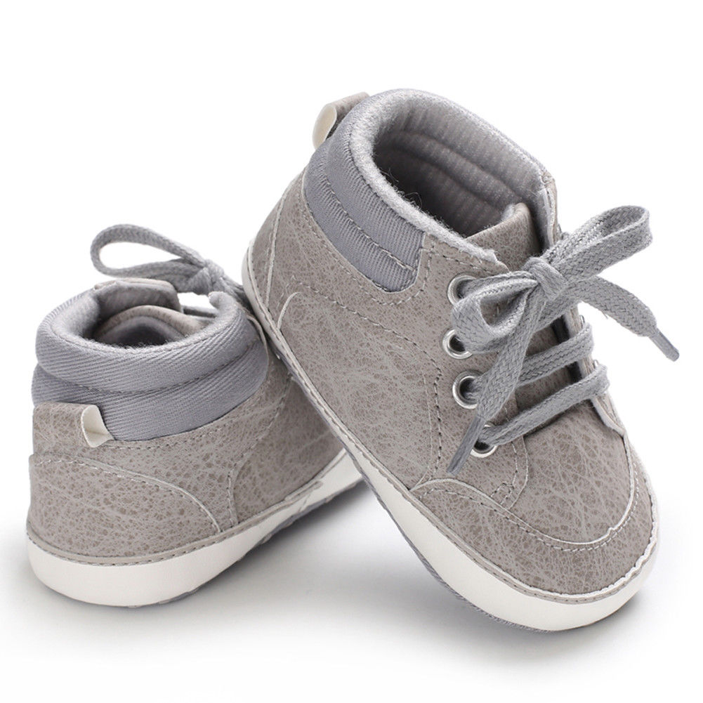 2020 Fashion Newborn Baby Casual Shoes Toddler Girls Boys PU Lace Up Soft Sole Sneaker Infant Kids Crib Shoes For 0-18month