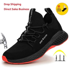 Air Mesh Steel Toe Work Shoes Breathable Working Shoes Man And Women Safety Lightweight Puncture-Proof Safety Boots Dropshipping
