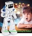 Controle de voz rc robô com música inglês água condução dança controle remoto inteligente figuras ação brinquedos robô k3