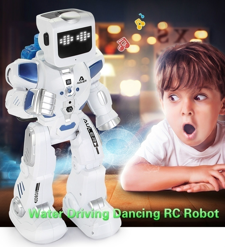 Voice Control RC Robot With English Music Water Driving Dancing Intelligent Remote Control Action Figures Toys K3 robot