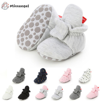 Baby Boy Girl Socks Toddler Shoes Solid Prewalkers Booties Cotton Winter Soft Anti-slip Warm Newborn Infant Crib Moccasins - discount item  44% OFF Baby Shoes
