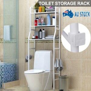 Напольная полка для хранения в ванной, многофункциональная металлическая стойка для унитаза, полка для хранения в ванной, органайзер для хр...