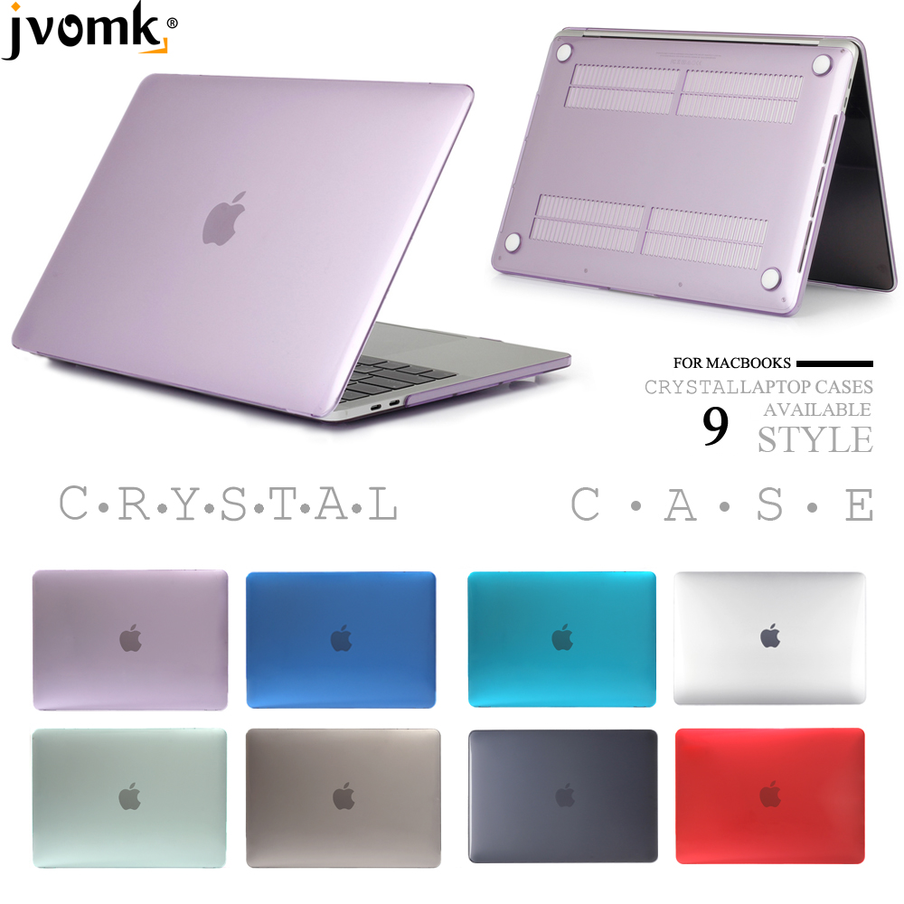 Crystal Laptop Case For Macbook Mac Book Air Pro Retina 11 12 13 15 15.4 13.3 Inch A1466 A1932 A2159 With Touch Bar 2019 New