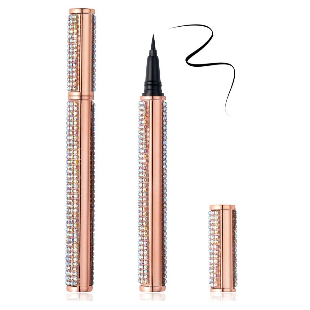 NEW 1pcs Diamond Magic Self adhesive Liquid Eyeliner Pencil Magnet-free Glue-free Waterproof Makeup Lash Gule Pen Wholesale