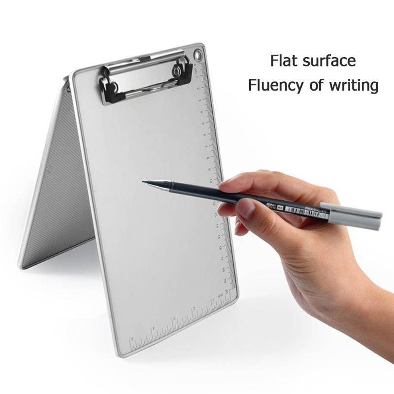 A4 Document Holder Clipboard Aluminum Alloy PP 2 Types Optional Writing Board Clip File Folder Paper Ticket Storage Collect Book
