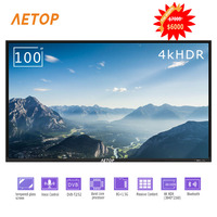 Free shipping china android tv 100 inch explosion proof 4k ultra hd led flat screen televisor smart tv with remote control