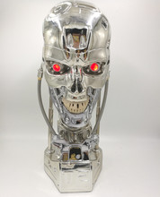 1:1 Terminator T-800 Skull Bust 3D Model Skull Endoskeleton Resin Bust Statue цена 2017