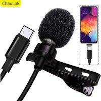 Professionele Lavalier Microfoon Voor Xiaomi Mi10 9 8 6 Mix3s 2 S Usb Type C Audio Video Opname Condensator Microfoon voor Redmi K30 Pro