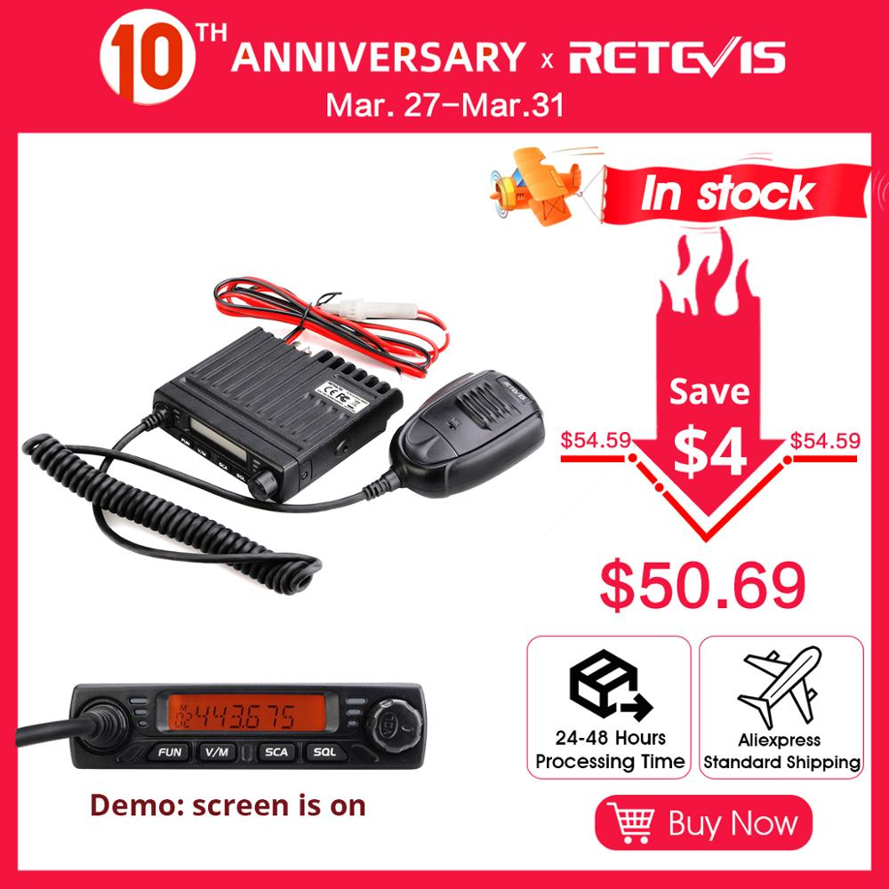 Car Walkie Talkie Radio Station RETEVIS RT98 VHF ( Or UHF) 15W Car Mobile Radio Car Two-way Radio Ham Radio Transceiver Truckers