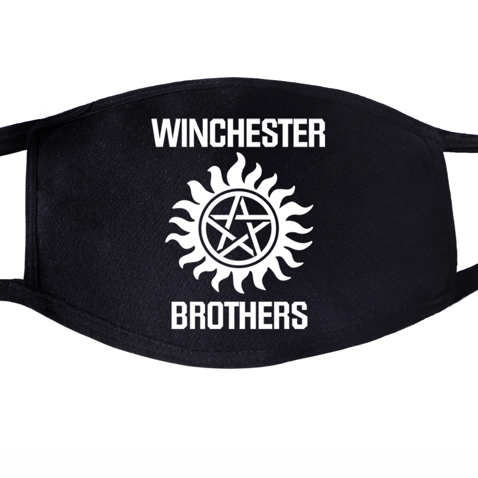 Supernatural Winchester Brother Face Mask Mouth Anti Dust Unixex Black Half Muffle Face Dustproof Facial  Cover Masks