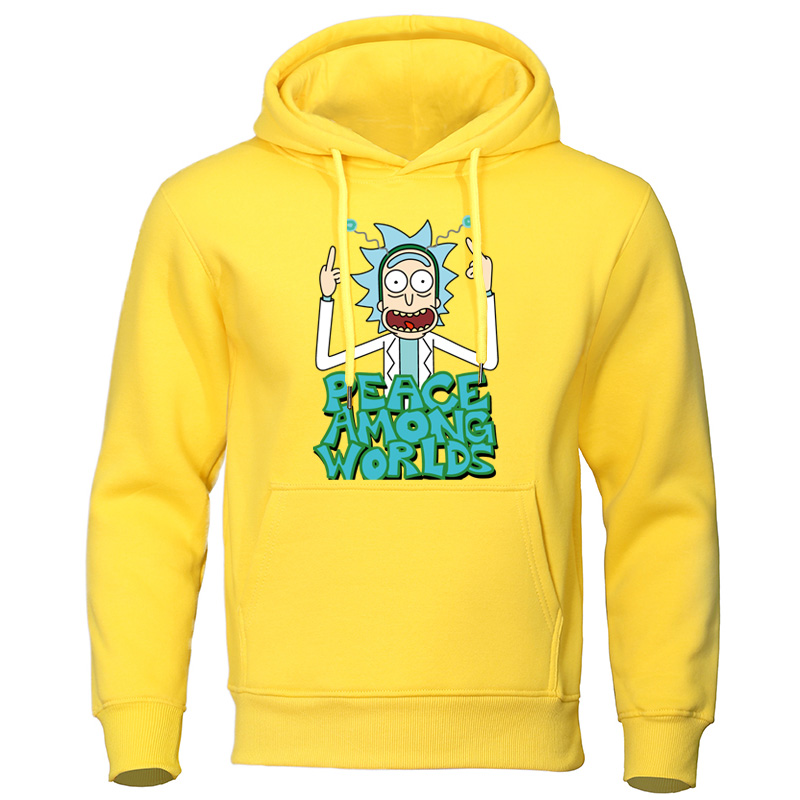 Autumn Hoodies Men Hip Hop Tracksuit Rick And Morty Funny Print Male Sweatshirts Comfortable Quality Pullover Casual Pullover