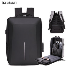 IKE MARTI Анти-кражи рюкзак бизнес сумка для ноутбука Водонепроницаемый Usb зарядки 15,6 рюкзак, мужской рюкзак, модные мужские рюкзаки для девочек...