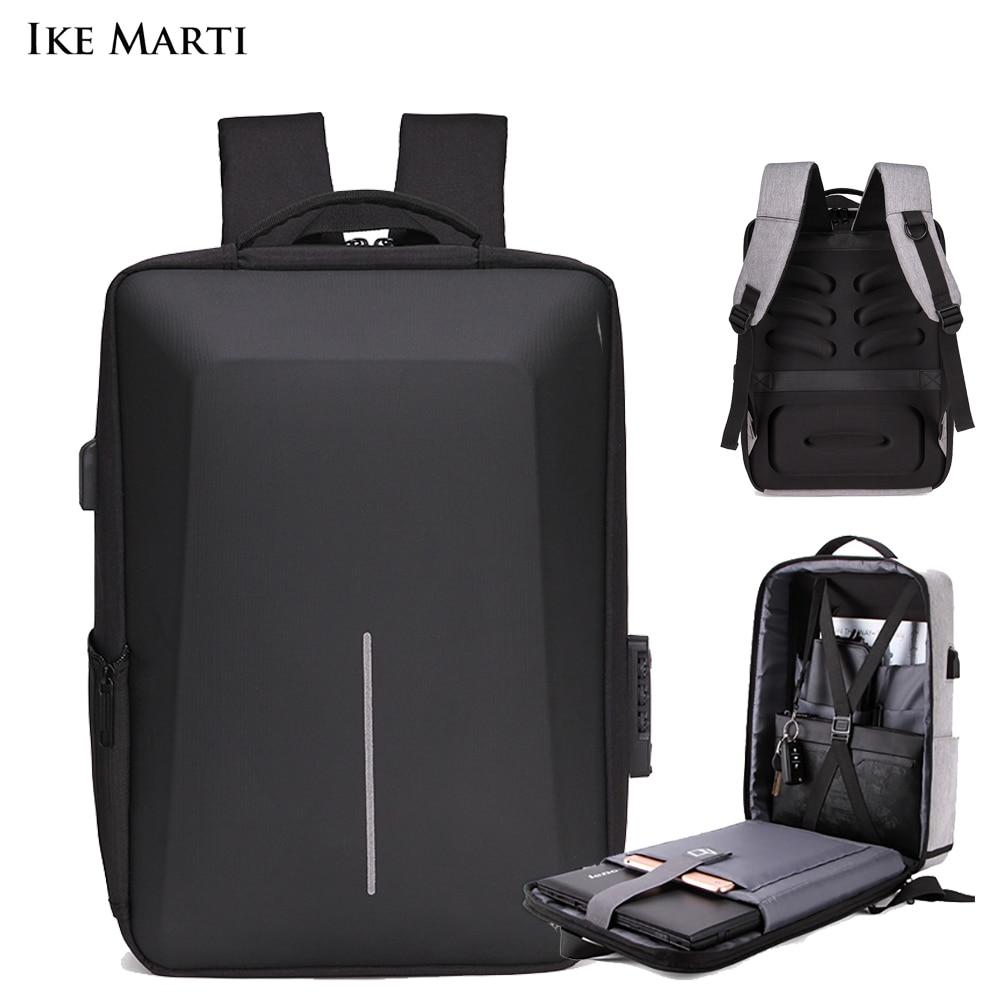 IKE MARTI Анти-кражи рюкзак мужская деловая сумка для ноутбука Водонепроницаемый зарядки 15,6 рюкзак, мужской рюкзак, модные мужские рюкзаки для ...