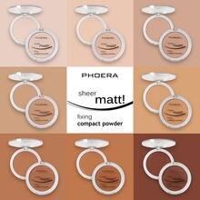 8 cores mate pressionado rosto pó fundação leve natural duradouro óleo-controle compacto cosméticos pó solto maquiagem tslm1