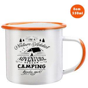 Image 3 - Edelstahl Camping Kaffee Becher Camping Irgendwie Mädchen Retro Emaille Geburtstag Weihnachten Im Freien Metall Emaille Lagerfeuer Tasse