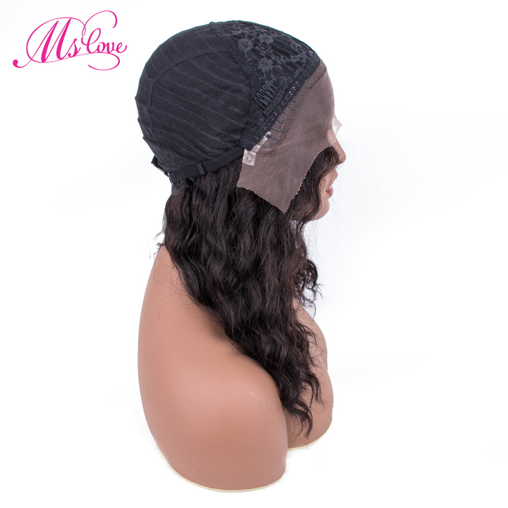 Perruque de cheveux humains bouclés perruque brésilienne Remy cheveux Mslove 14 pouces perruque de cheveux humains bouclés avant de lacet perruques de cheveux humains pour les femmes noires - 5