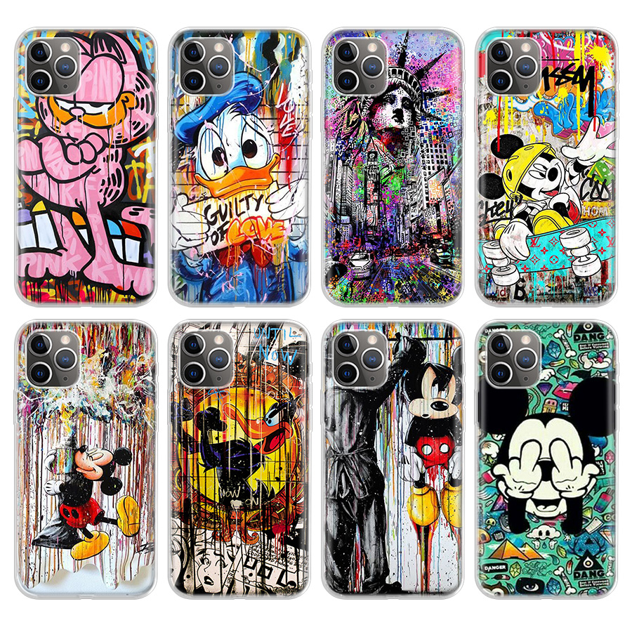 Joker Minnie Stitch marvel deadpool Phone Case For Apple iPhone 11 Pro 6 6S 7 8 Plus 10 X XS MAX XR 5 5S SE Phone Case Cover