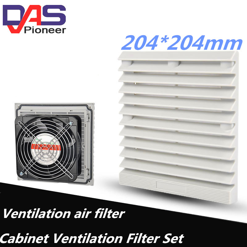 230V High Speed AC Condenser  Dual Ball Bearing Cooling Fan For 204*204mm Ventilation With Metal Guard