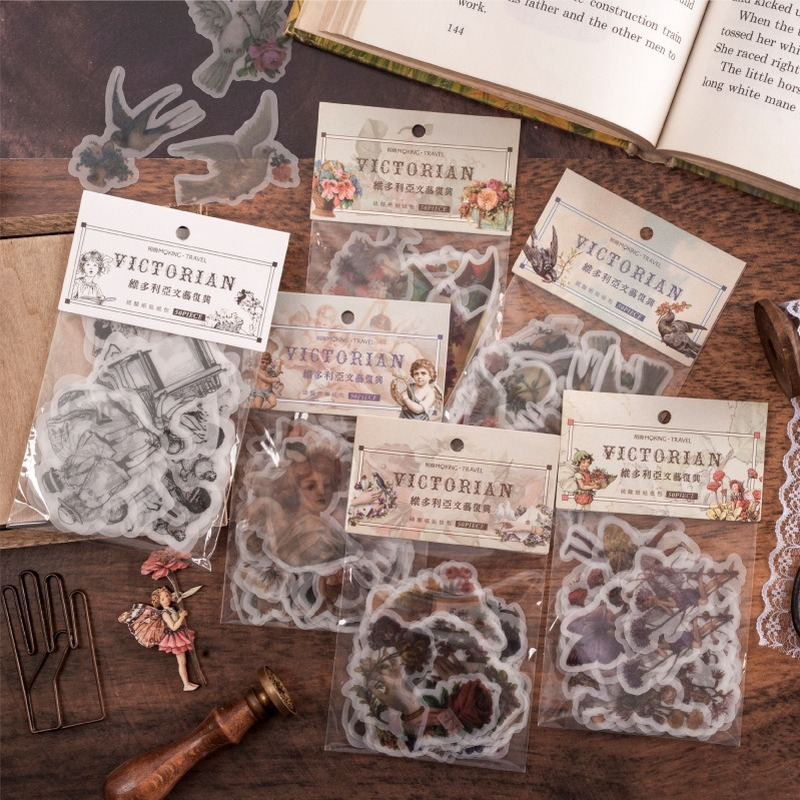 50 Pcs/set Retro Stickers Bullet Journal Stickers Vintage Christmas Victorian Renaissance Stickers Scrapbooking Retro Stationery