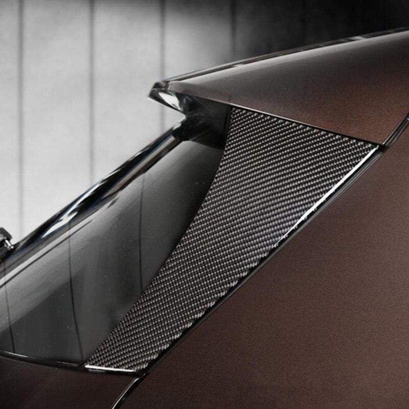 Rear Window Windshield Trim Strips 2Pcs For Mercedes Benz GLA X156 2015-2018 Carbon Fiber Car Exterior Accessories