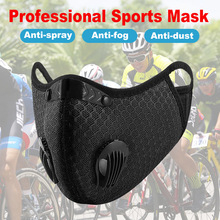 Sports Mask Reusable mask Protective mask Dust proof PM 2.5 Washable Activated With Filter Carbon Mask Unisex Riding Mask