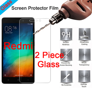 2 Piece 9H Clear Tempered Glass Screen Protector for Redmi S2 Go 3S 3X 3 2 Film HD Protective Glass for Xiaomi Redmi 4X 4A 4 Pro
