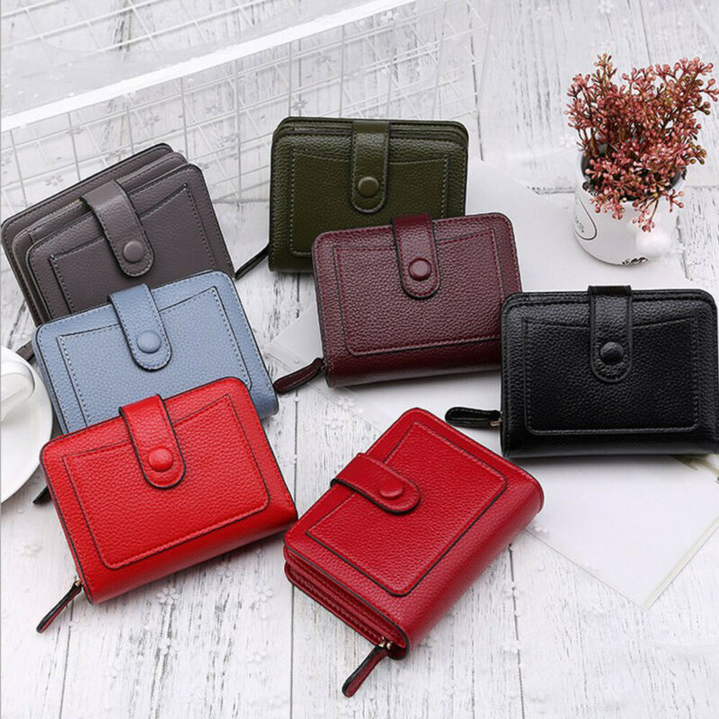 Fashion 2020 Women Ladies PU Leather Wallet Short Purse Card Phone Holder Case Clutch Handbag