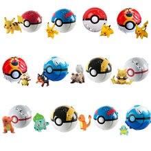 12 Styles Pokemon Elf Ball Anime Figure Pikachu Charmander Litten Rockruff Pokeball Pocket Monster Variant Toy Action Model Gift