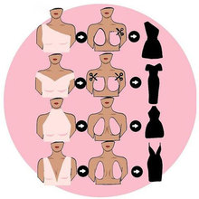 Women Silicon Sexy Self Adhesive Nipple Push Up Instant Lift Breast Bra Tape Strepless Invisible Rabbit Sticky Bras For Women