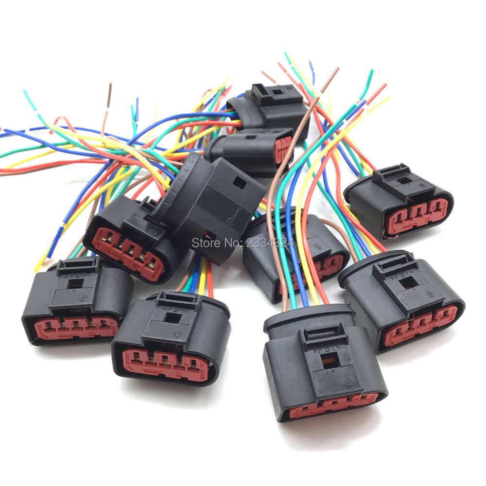 Nieuwe Pbt Maf Luchtmassameter 5 Pin Connector Plug 1J0973775A 1J0 973 775A Voor Vw Golf 1999 2000 2001