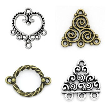 DoreenBeads Alloy Connectors Findings Knot Antique Bronze Flower Hollow Pattern Jewelry DIY Handmade Earrings Charms - discount item  25% OFF Jewelry Making