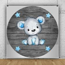 Photo-Background Poster Baptism Wood-Board Customized Portrait Birthday-Party Baby Cartoon