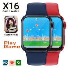 Original smartwatch x16 relógio inteligente masculino bluetooth freqüência cardíaca relógios femininos pulseira de fitness pk iwo 12 13 hw12 hw22 ak76 g65l