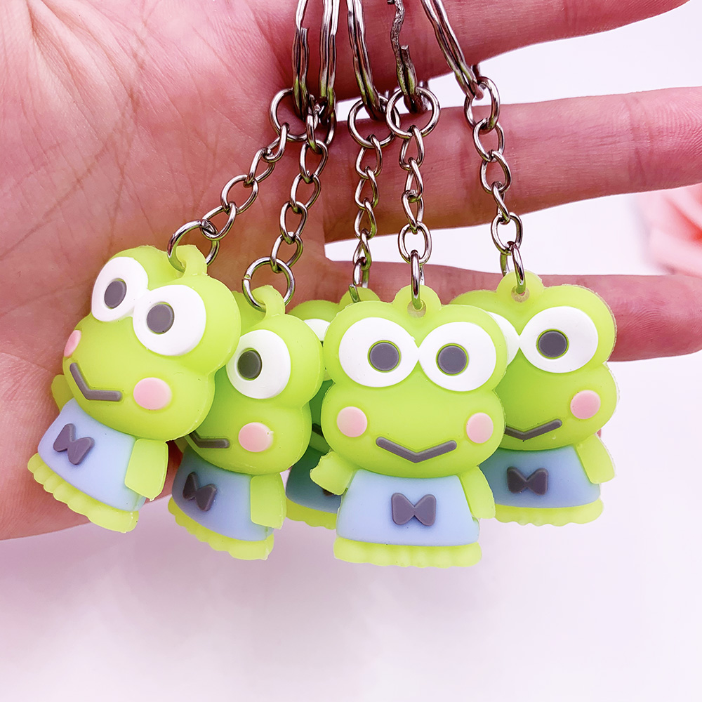 Cute Cartoon Green Frog Keychain For Friends Animal Key Chain New Style Jewelry Key Holder For Lovers Gift