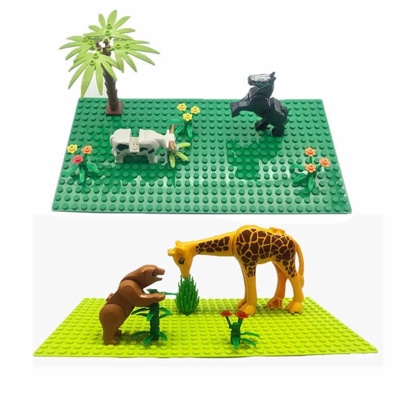 2020 nuovi Animali Zoo Del Mondo di Mattoni da Costruzione FAI DA TE Classico MOC Idears Juguete MOC Piastra di Base Blocchi Giocattoli per I Bambini Delle Ragazze Dei Ragazzi